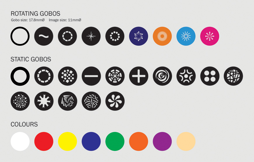 eLumen8 16R Zoom Profile Gobo/Colour Wheel