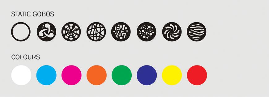 Equinox Fusion Spot XP Gobo/Colour Wheel