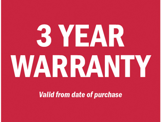 3 Year Warranty on Clever Products