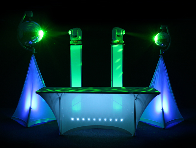 LEDJ DJ set up