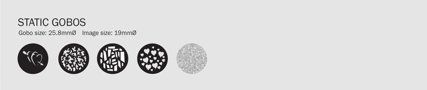 LEDJ PF 35 Profile Spot CW Gobos