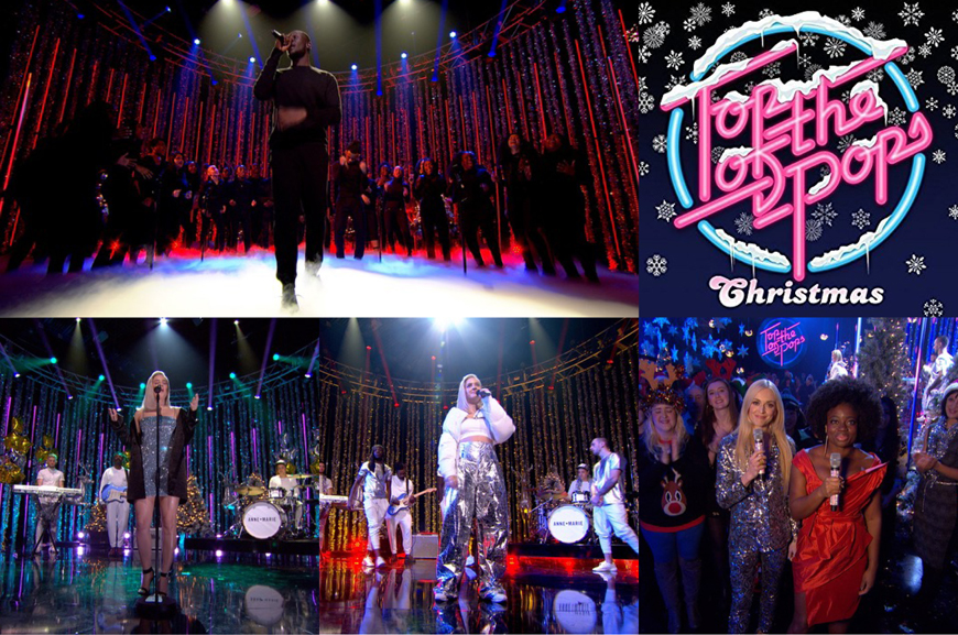Pixel Storm 12 Quad battens on the TOTP Christmas Special