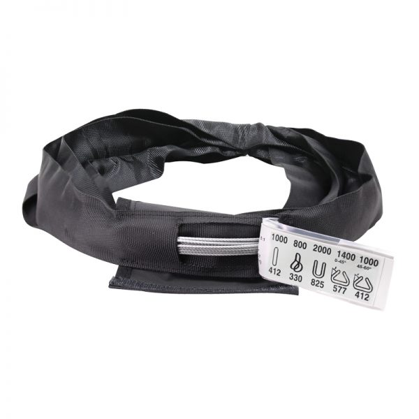 Black Softsteel 1 Ton WLL, Length 1.5m