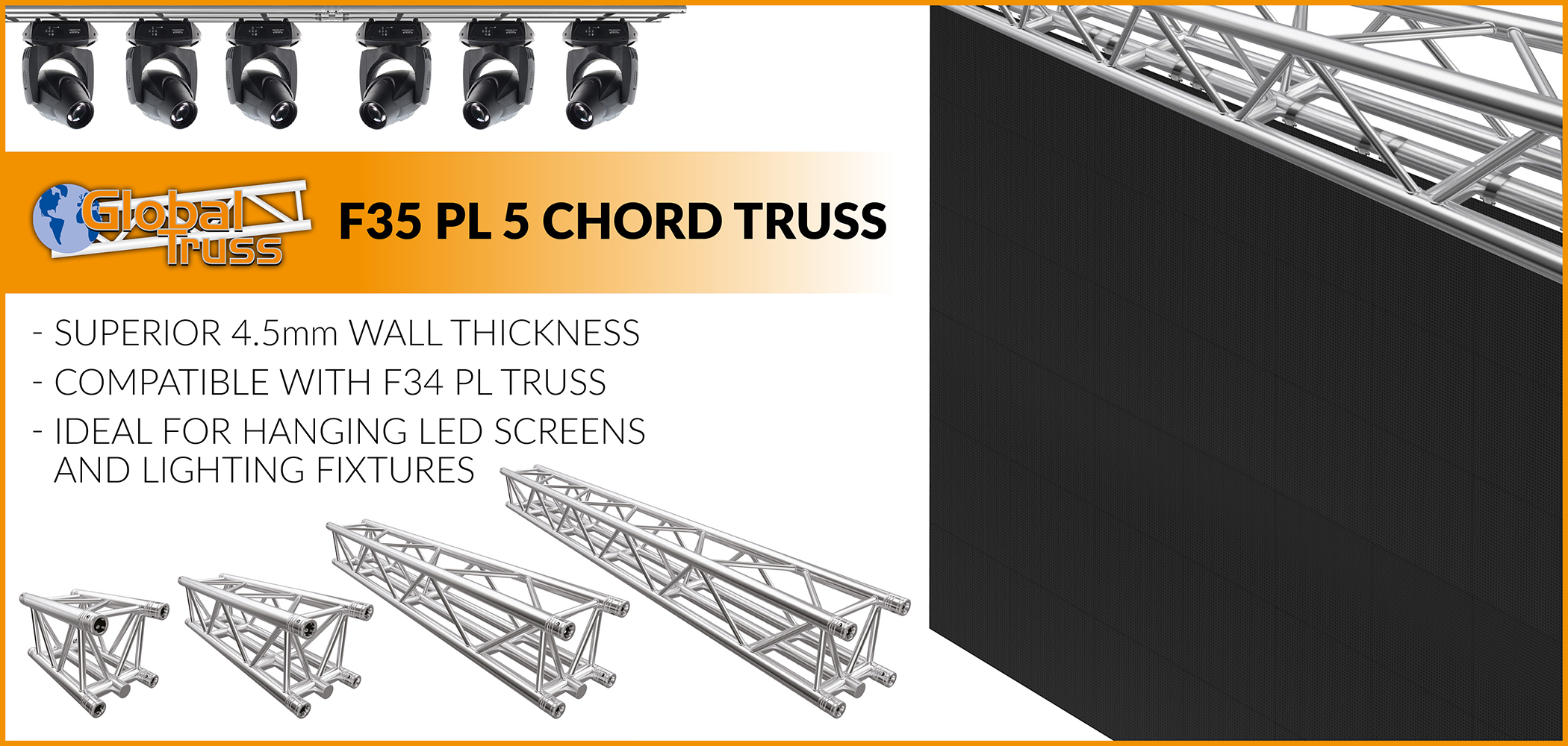 Global Truss F35 PL 5 Chord Truss