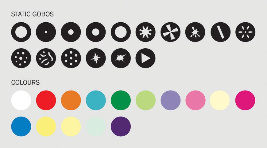 eLumen8 1RE Beam Gobo/Colour Wheel
