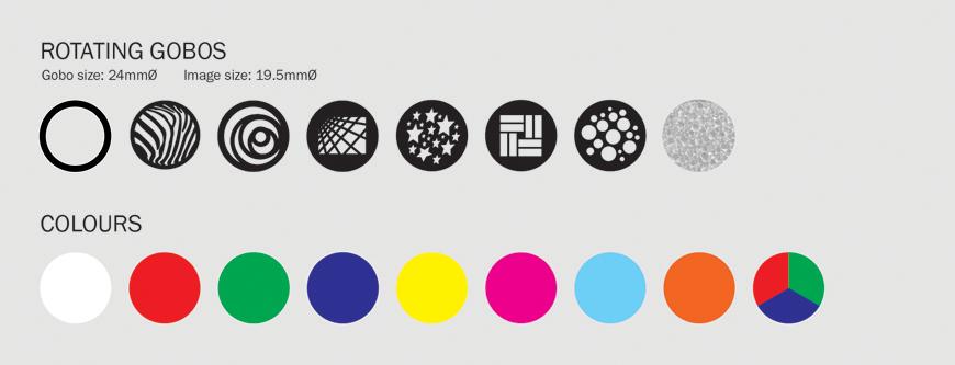 Equinox Midas Spot Gobo/Colour Wheels