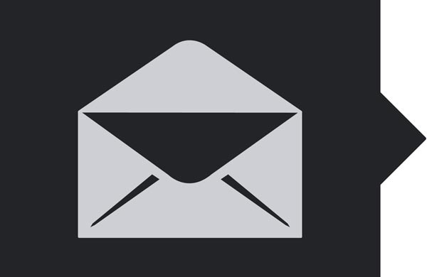 An envelope icon depicting newsletter sign up
