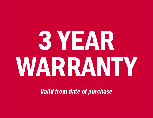 3 Year Warranty on Clever Acoustics Products