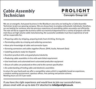 Cable Assembly Technician advert_Thumbnail