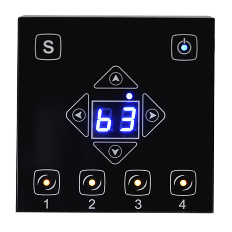 Visio Wireless Wall Dimmer Black