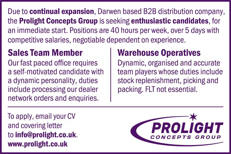 Prolight Job Vacancies