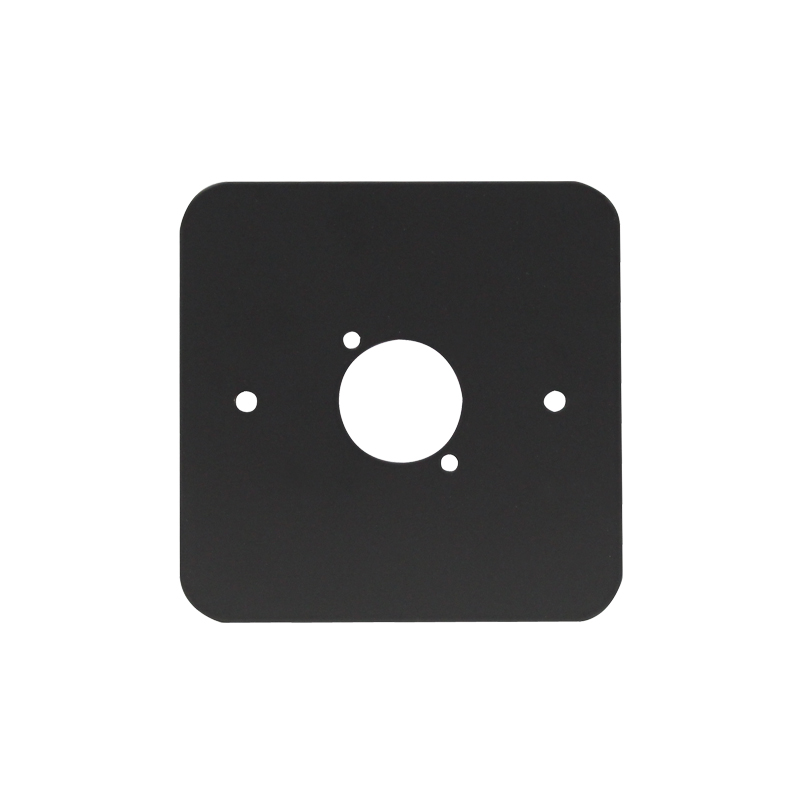 Single Gang D Type Wall Plate, Black