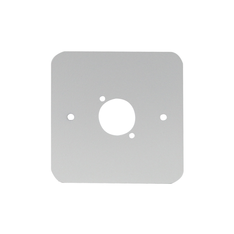 Single Gang D Type Wall Plate, Silver