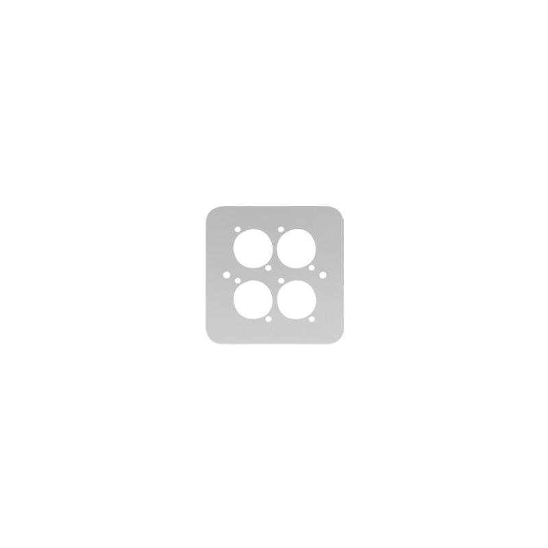 Single Gang 4x D Type Wall Plate, Silver (82511-4RCS)