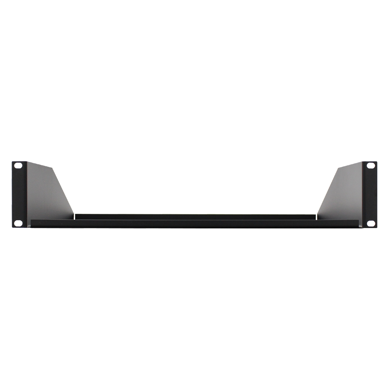 Black 2U 19″ Rack Mount Shelf