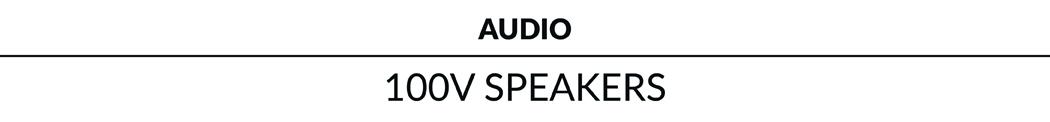 100V Speakers