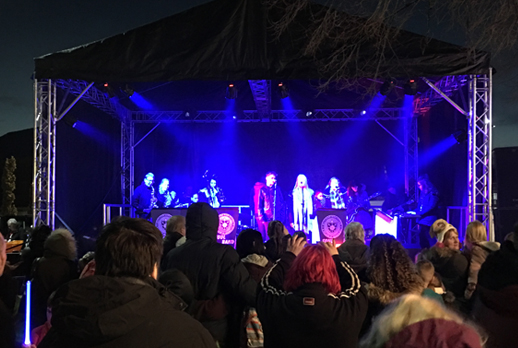 Leigh Christmas Light switch on from LEDJ and eLumen8