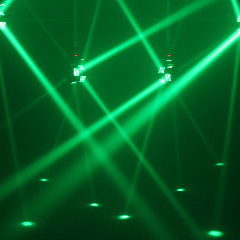 Gyrocopter Moving Head green light effects