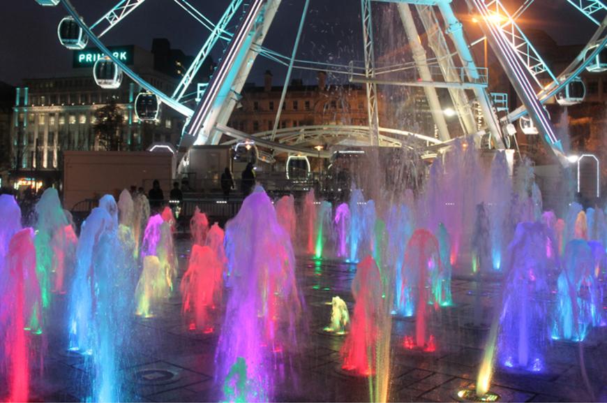 Visio V Aqua at Manchester Piccadilly Gardens