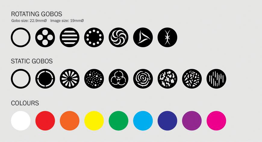eLumen8 Evora 500 Spot Gobo/Colour Wheel