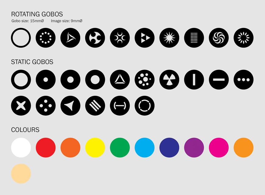 eLumen8 Evora 1000 BSW Gobo/Colour Wheel