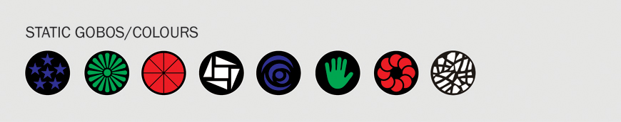 Equinox Crossfire XP Gobos/Colours