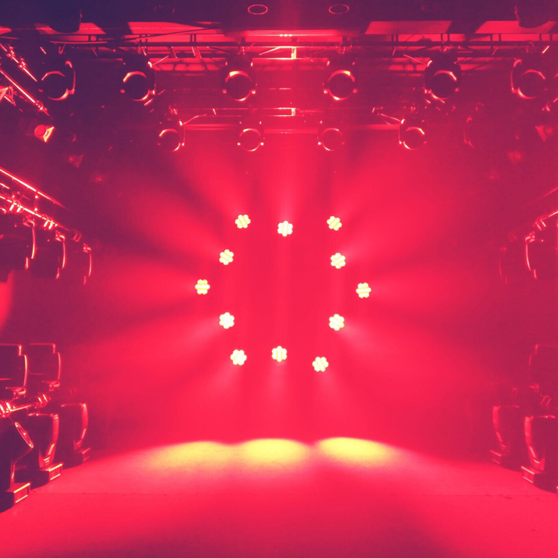 Kudos CM 180ZS Moving Head red lighting effects
