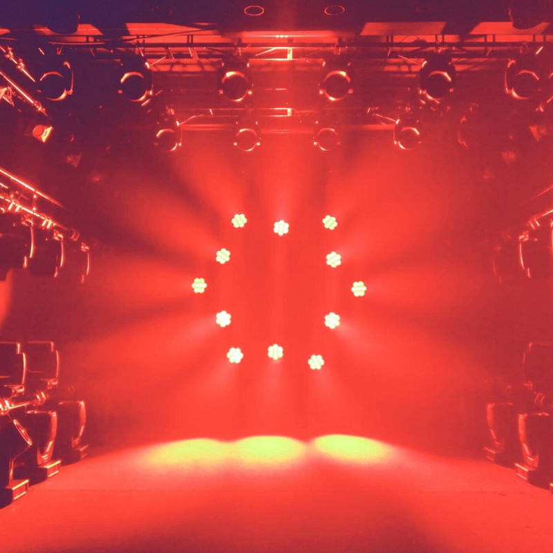 Kudos CM 180ZS Moving Head orange lighting effects