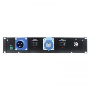 2U 19″ Rack Mount Powercon Distributor
