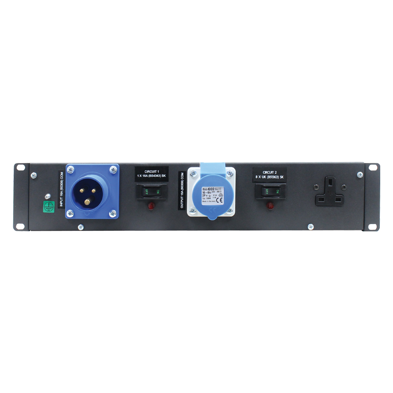2U 19″ Rack Mount 16Amp 13A Distributor