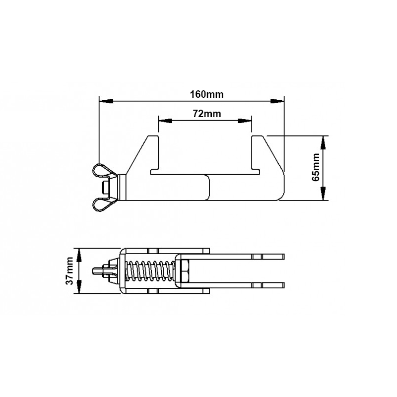 eLumiDeck Connection Clamp Technical Drawing