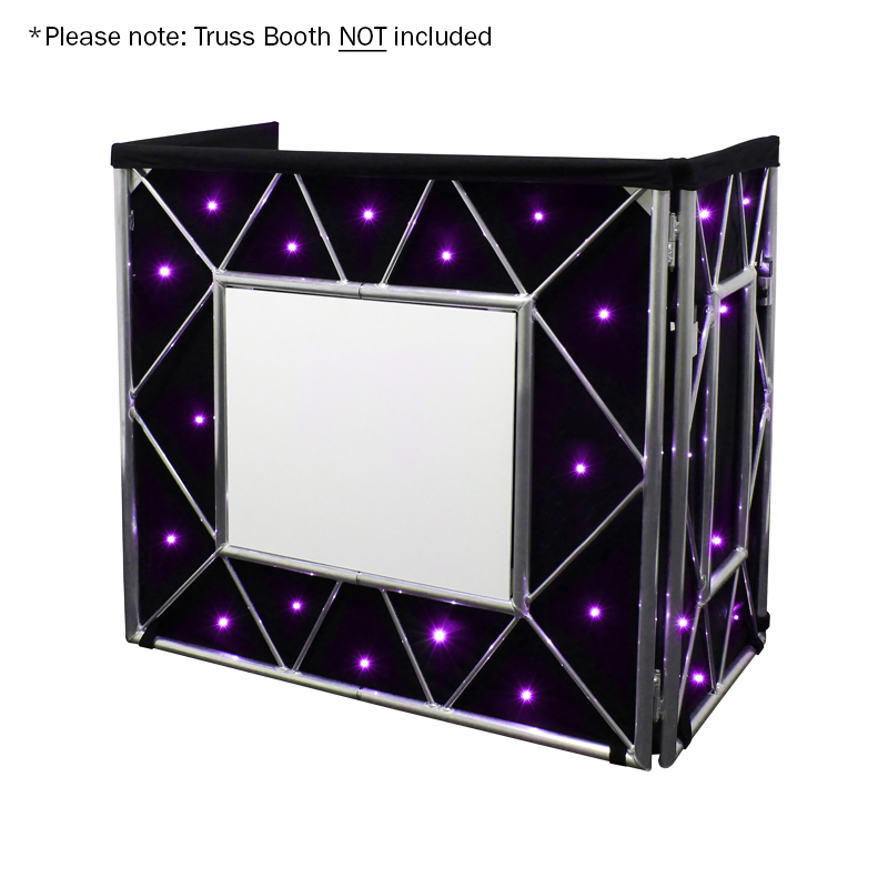 Truss Booth Quad LED Starcloth System - With white board