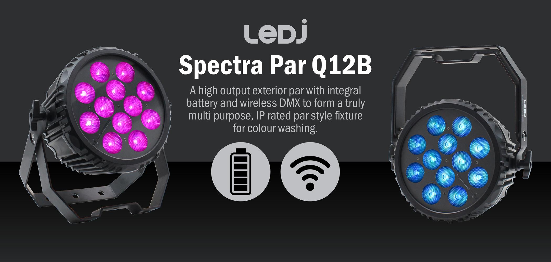 LEDJ Spectra Par Q12B Exterior Fixture