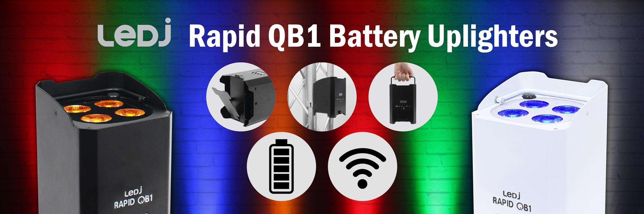 LEDJ Rapid QB1 Battery Uplighters