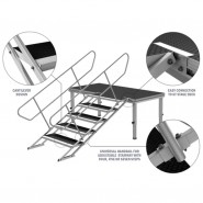 GT Stage Deck Adjustable Stair 80-140cm