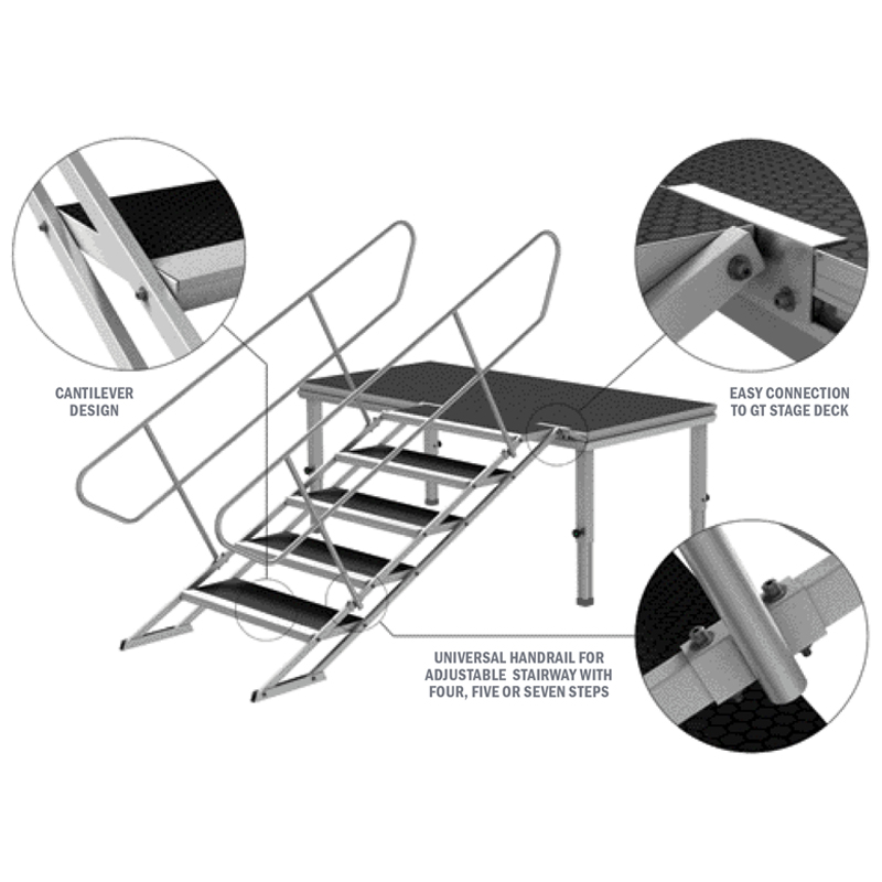 GT Stage Deck Adjustable Stair 100-180cm - Stair set up guide