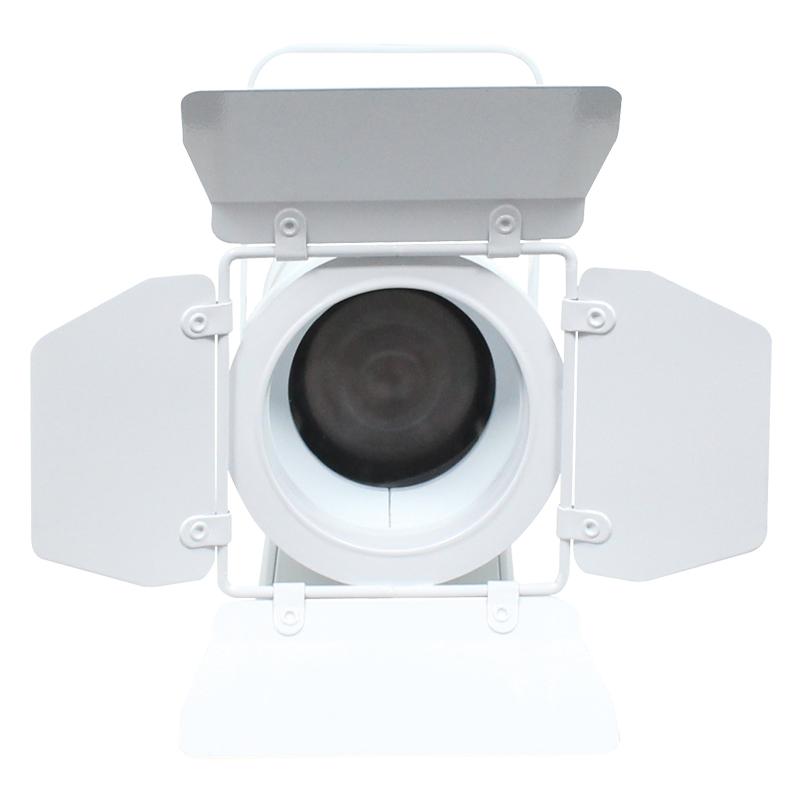 White MP 75 LED Fresnel RGBW Barn Doors