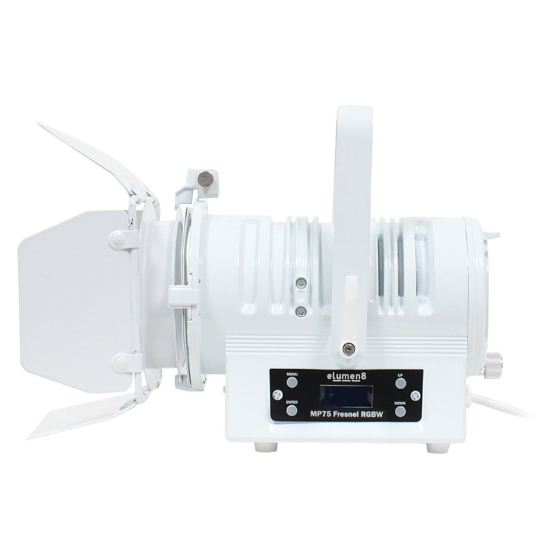 Side View White MP 75 LED Fresnel RGBW