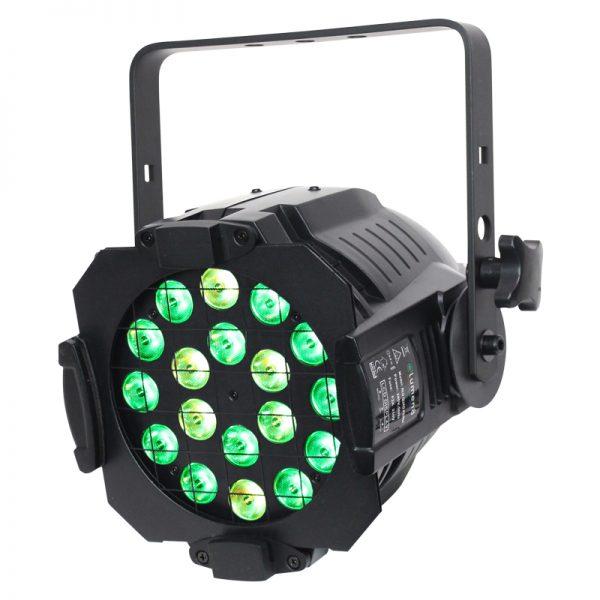 Alu Quad Par 64 Black 18 x 8W RGBW/RGBA
