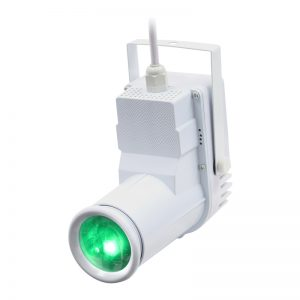12W quad-colour Pinspot (White Housing)
