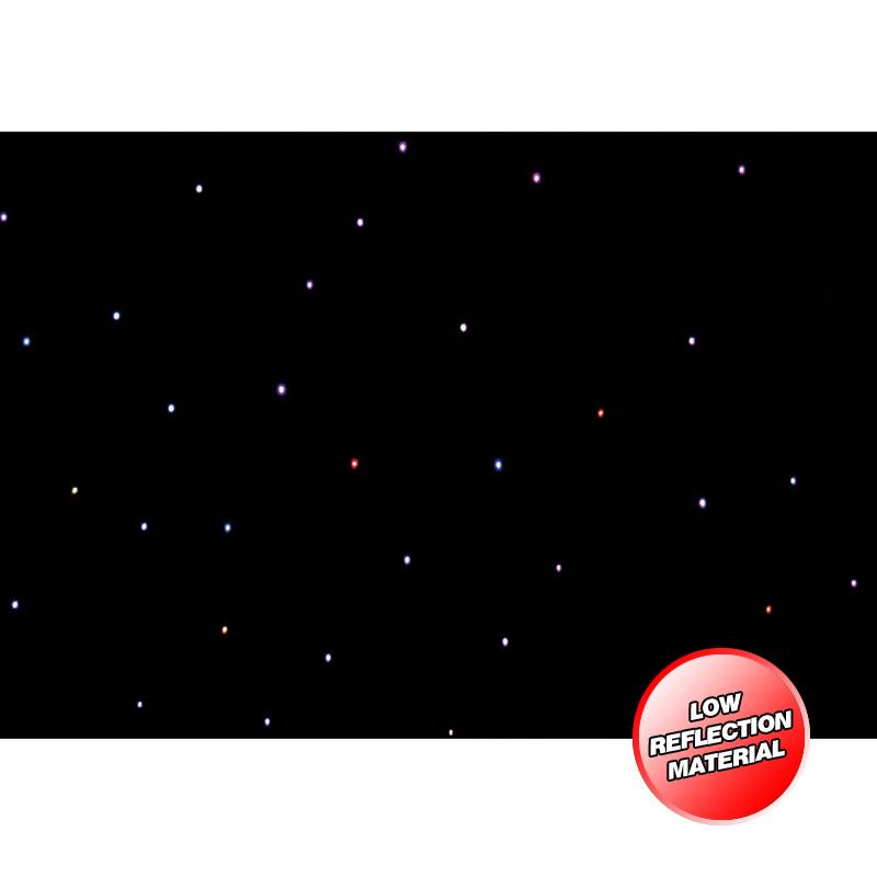 PRO 3 x 2m Tri LED Black Starcloth