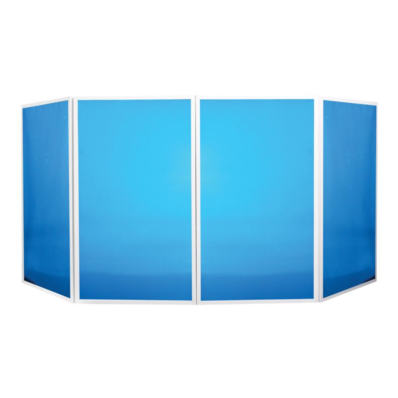Foldable DJ Screen White Lit Up Blue