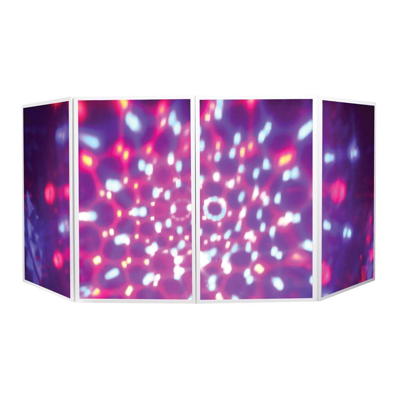 Foldable DJ Screen White Lit Up Multi-Colour light effect