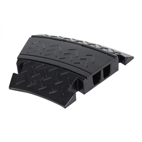 2 Channel Cable Ramp 30º Corner Black