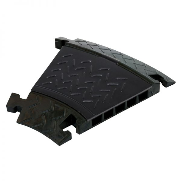 5 Channel Cable Ramp 30º Corner Black