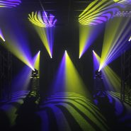 Midas Spot Purple & Yellow Gobo Effects