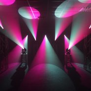 Midas Spot Pink and White Gobo Effects