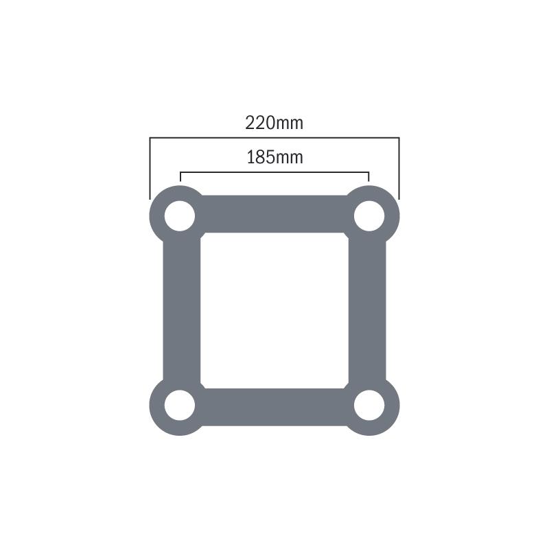 Global Truss F24 1.0m Truss Dimensions