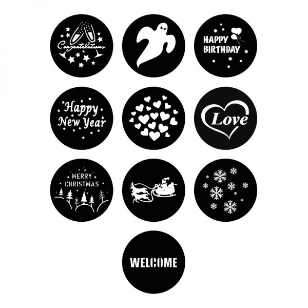 Midas Spot Gobo Pack – 10 different gobo effect designs