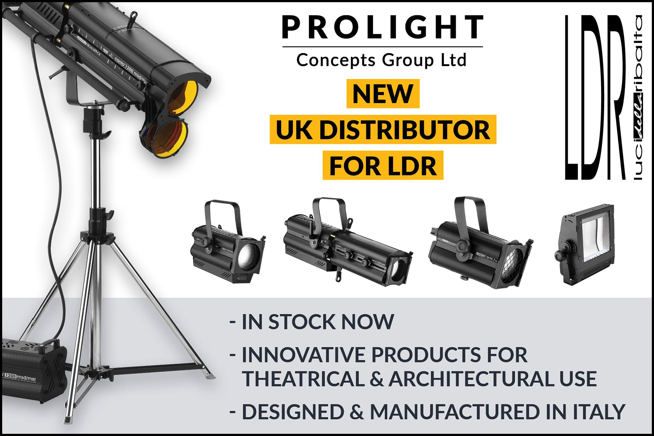 Prolight Distributes LDR - Luci Della Ribalta